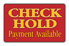 Check Hold Payment Available Logo