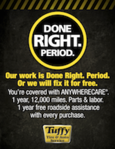 Tuffy guarantee anywhere care aurora il