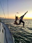 Sunset sailing charter