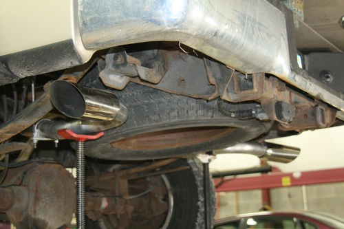 Custom Exhaust at Severe Auto Service