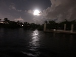Twilight, Full moon Sailing in Miami