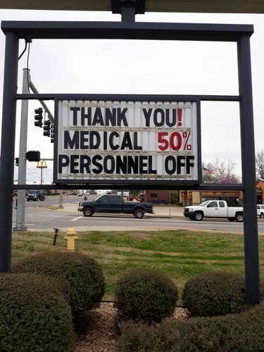Thank you medical personnel