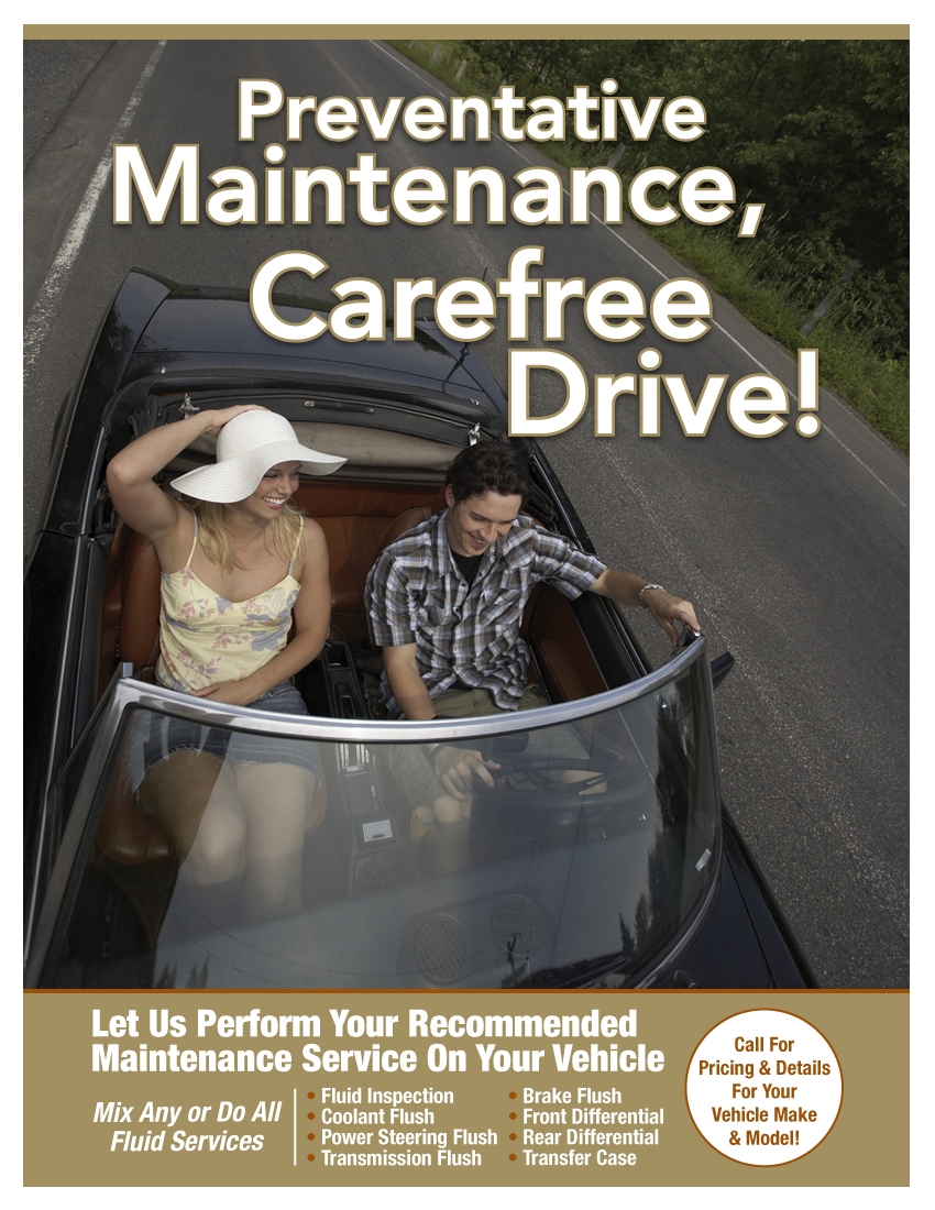 Preventative Maintenance (Call Shop For Details)