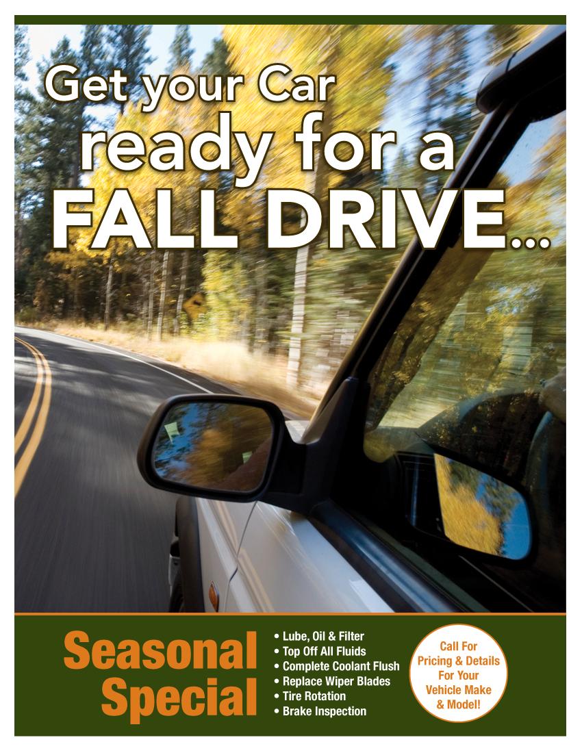 Seasonal Fall Special (Call Shop For Details)