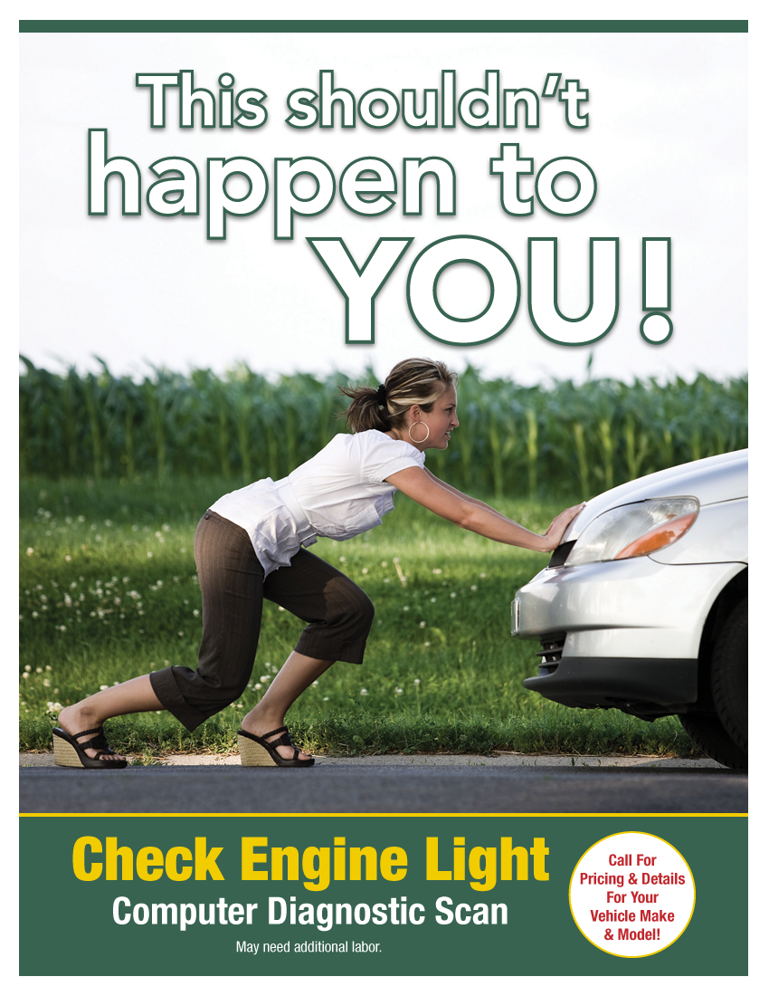 Check Engine Light Diagnostic (See Shop For Details)