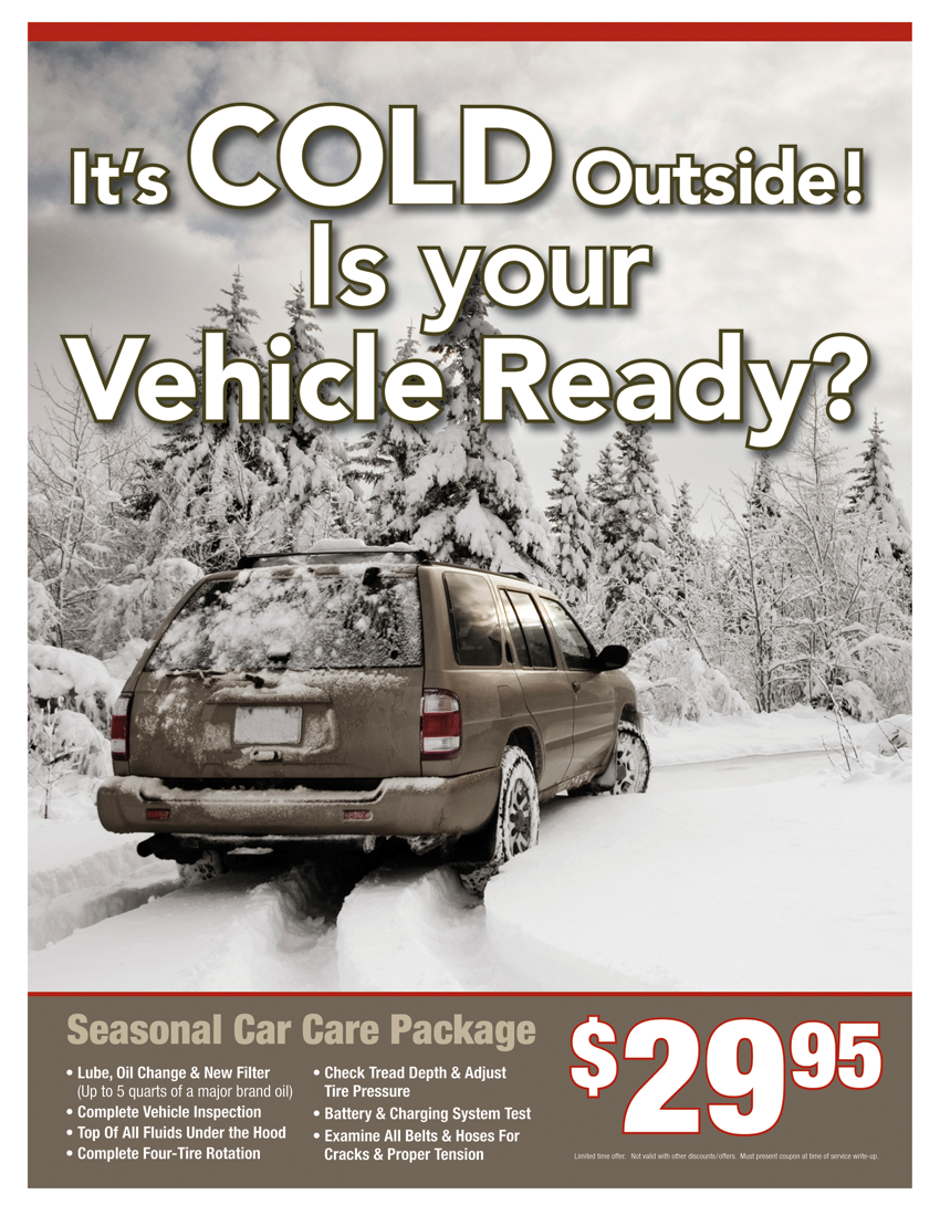 Winter Car Care Package $29.95