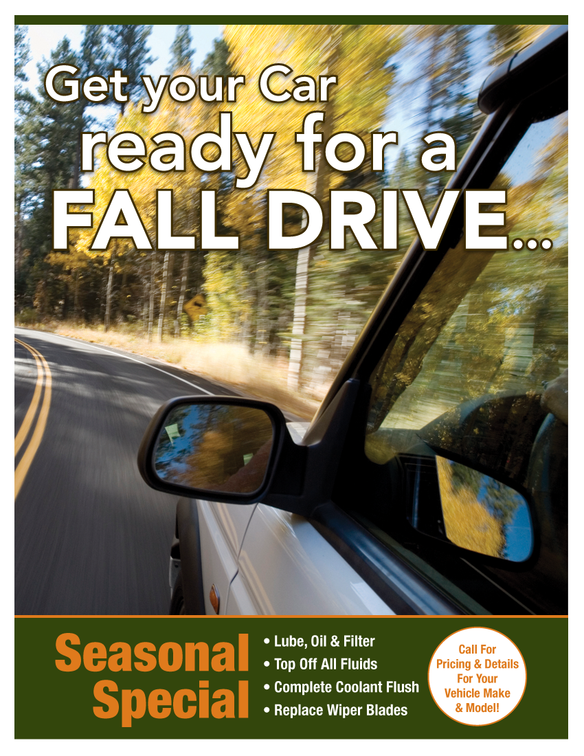Seasonal Fall Special (Call Shop For Details)