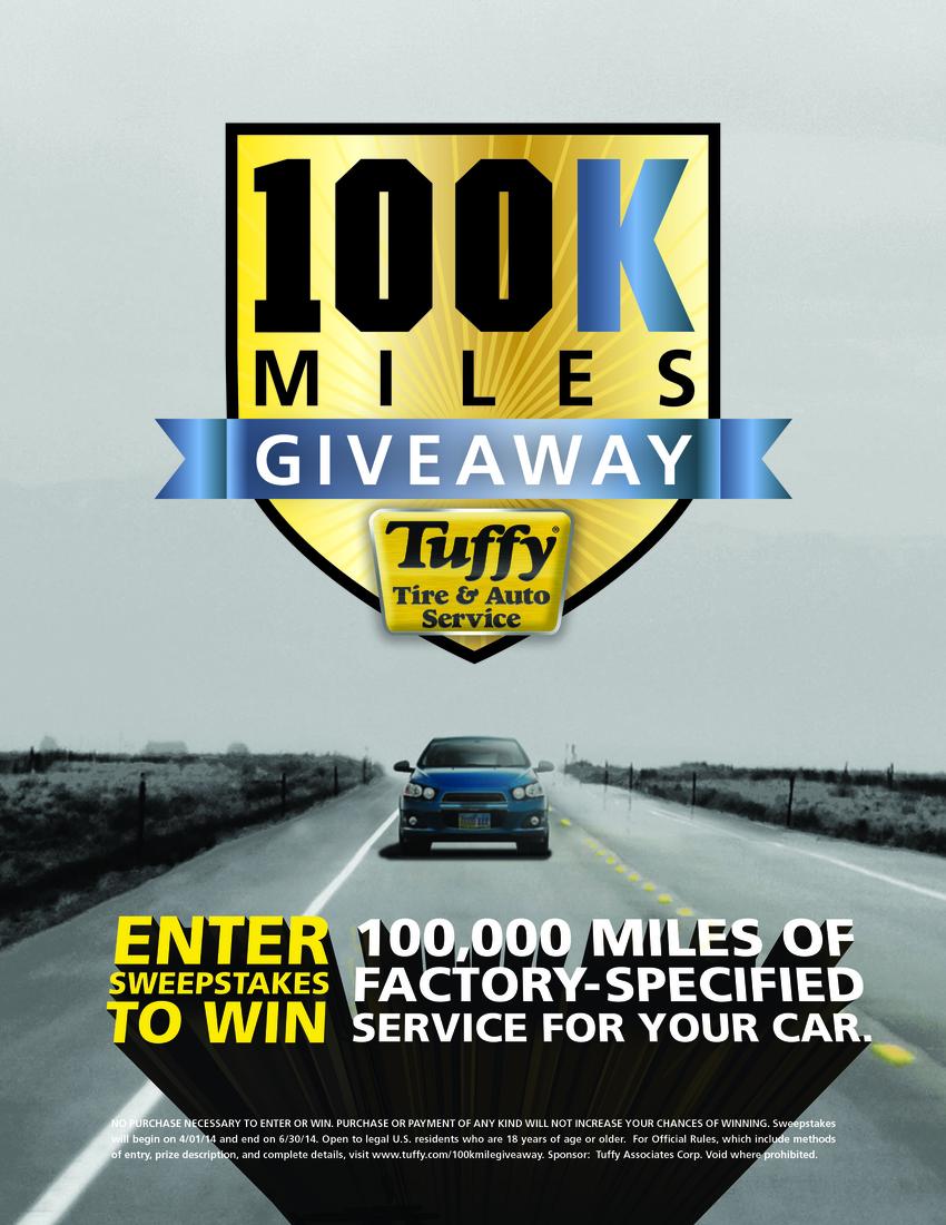 100K Mile Giveaway