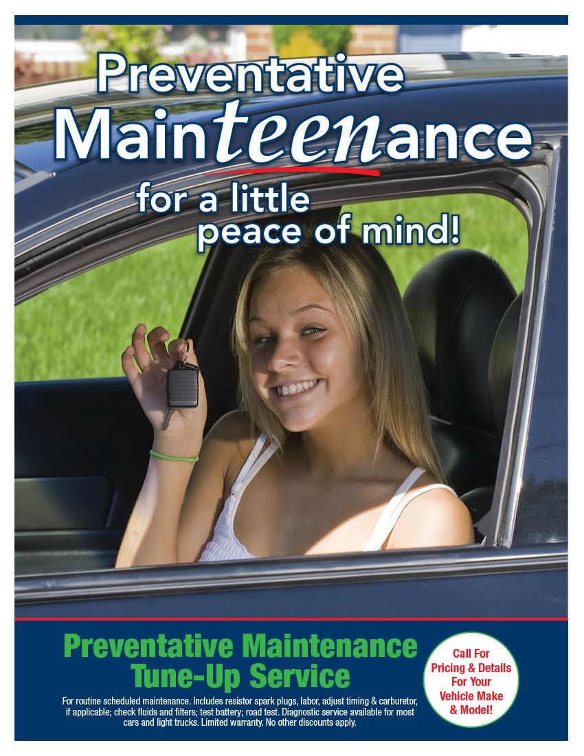 Preventative Maintenance Tune-Up (Call Shop For Details)