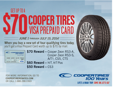 Cooper tire sale rebate