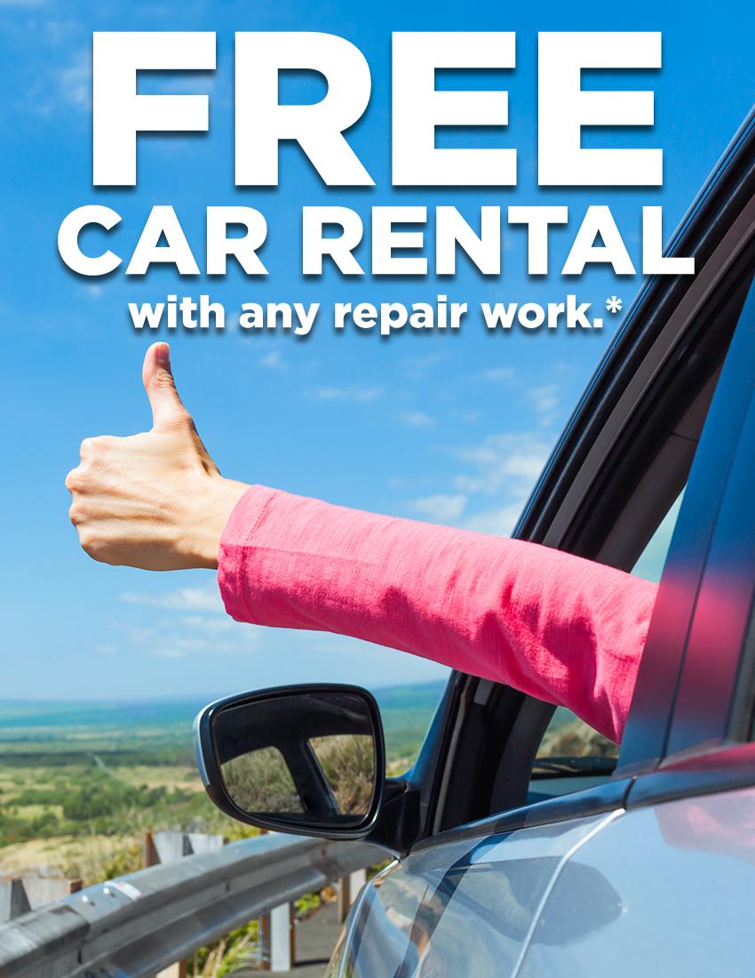 Free Car Rental w/Repair
