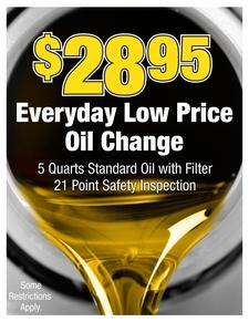 Cp 28.95 oil change