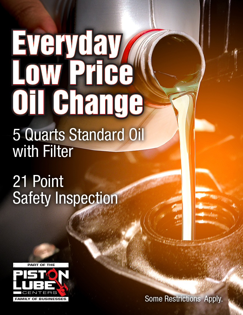 Piston Lube Every Day Oil Change