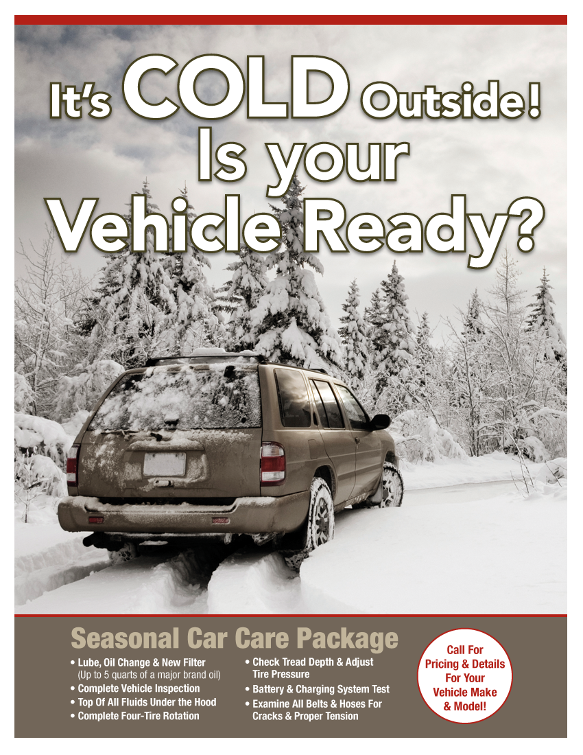 Winter Car Care Package (Call Shop For Details)