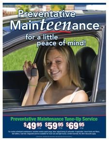 Preventative maintenance tune   up