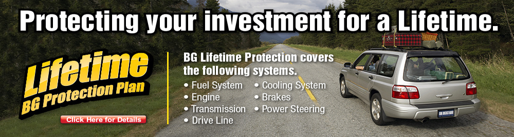 BG Lifetime Protection Plan for your Vehicle
