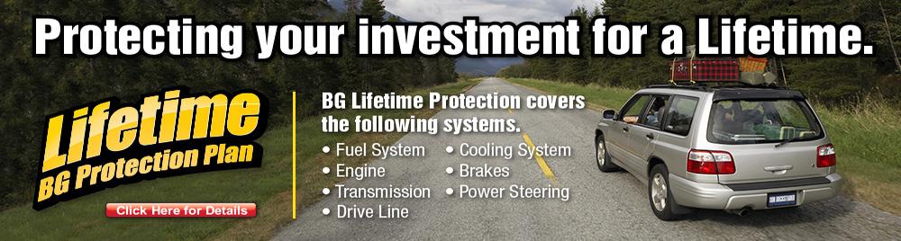 BG Lifetime Protection Plan for your Vehicle