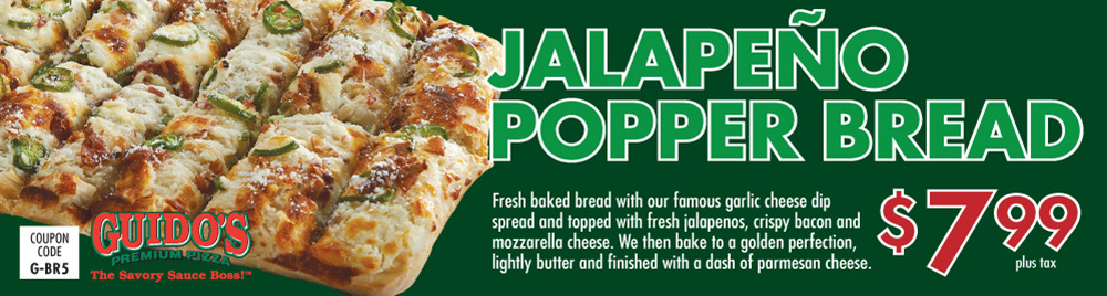 Jalapeno Popper Bread $7.99
