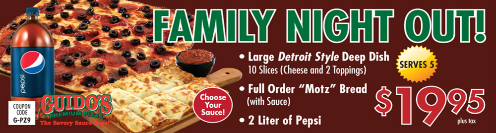 Family Night Out $19.95