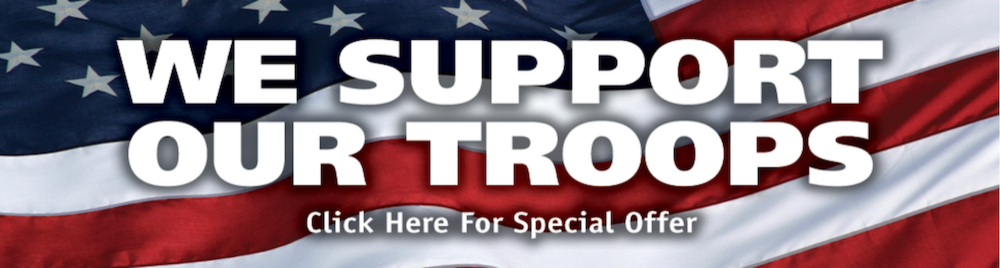 We Support Our Troops (Tuffy Portage Auto Repair)